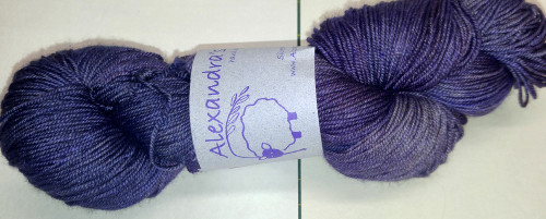 Alexandra's Crafts Black Butte yarn Purple Passion