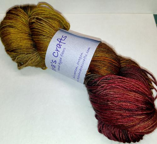 Alexandra's Crafts Black Butte yarn Fire