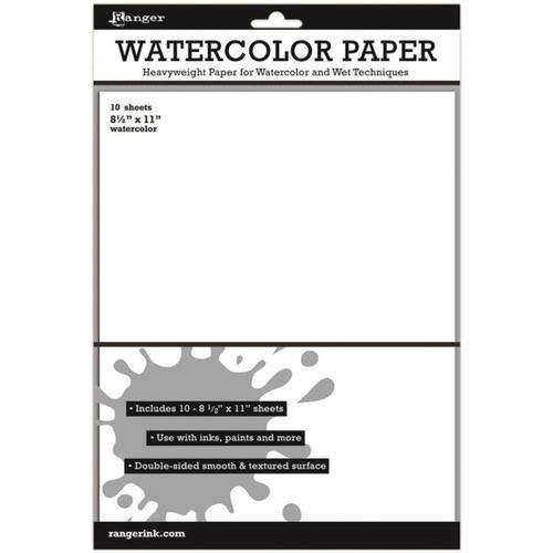 "Ranger Inkssentials Watercolor Paper 8.5x11"" 10 pack"