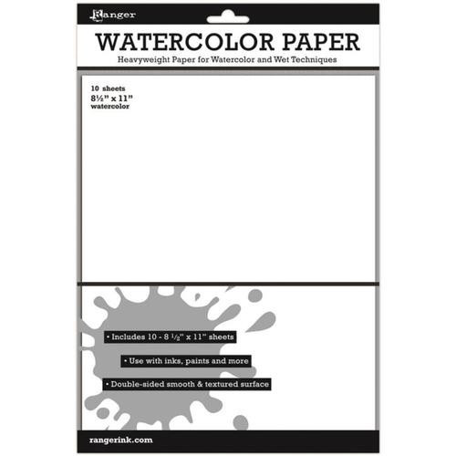 "Ranger Inkssentials Watercolor Paper 8.5x11"" 10 pack"