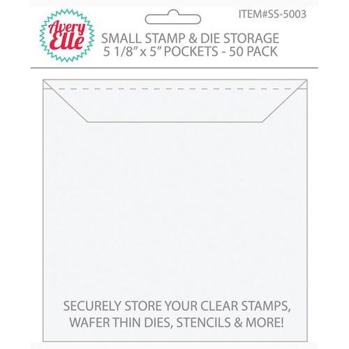 """Avery Elle Stamp & Die Storage Pockets Small Pack of 50  5 x 5"""""""