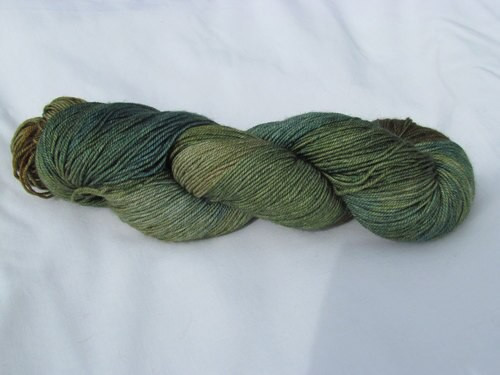 Alexandra's Crafts Black Butte yarn Evergreen