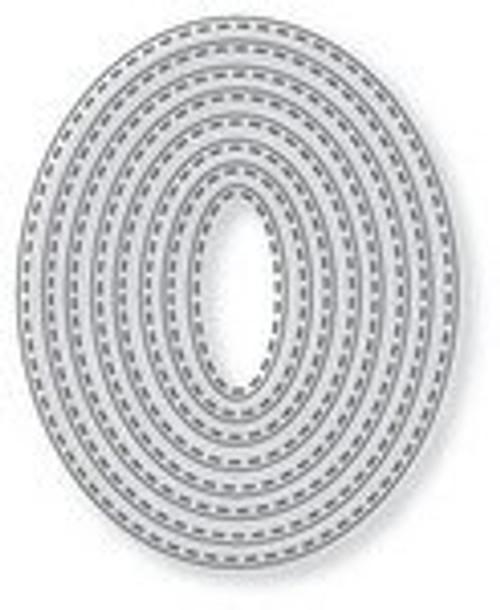 Tutti Designs die Nesting Stitched Ovals
