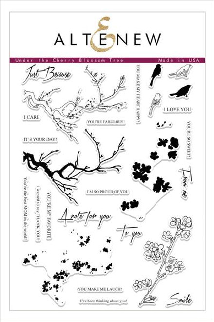 Altenew Under the Cherry Blossom Stamp Set