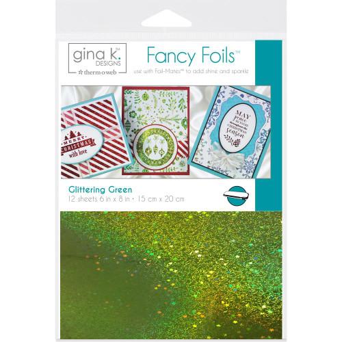 Thermoweb Gina K Deco Foil Sheets Glittering Green