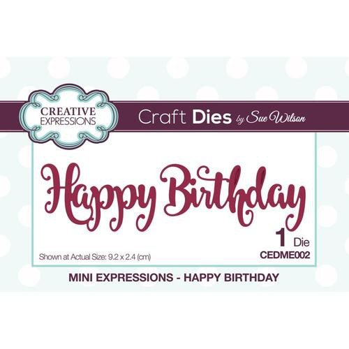Creative Expressions Dies Mini Expressions Happy Birthday