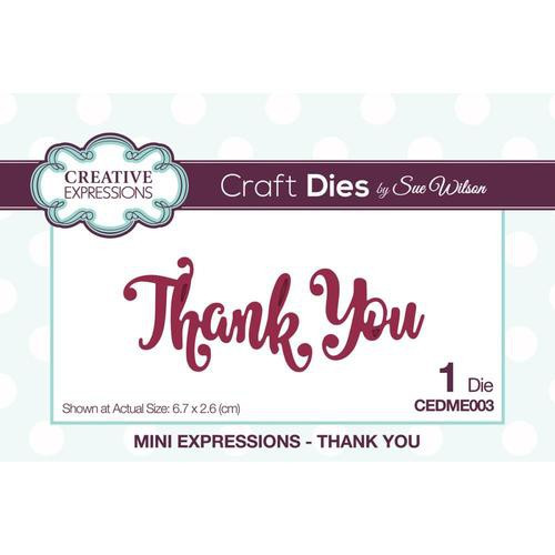 Creative Expressions Dies Mini Expressions Thank You