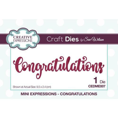 Creative Expressions Dies Mini Expressions Congratulations