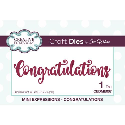 Creative Expressions Mini Expressions Congratulations