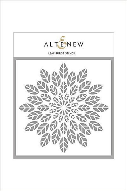"Altenew Stencil Leaf Burst 6 x 6"""