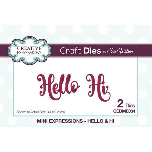 Creative Expressions Dies Mini Expressions Hello & Hi