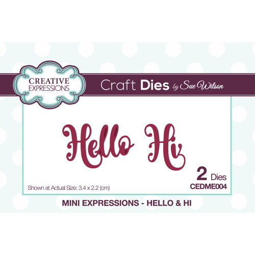 Creative Expressions Mini Expressions Hello & Hi