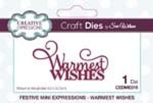 Creative Expressions Dies Mini Expressions Warmest Wishes