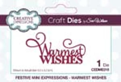 Sue Wilson Mini Expression Warmest Wishes