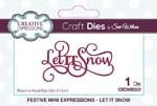 Creative Expressions Dies Mini Expressions Let it Snow