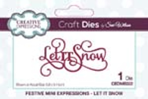 Sue Wilson Mini Expression Let it Snow