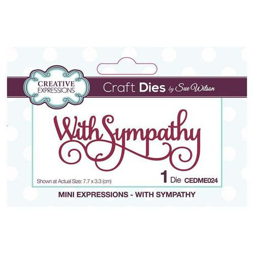 Creative Expressions Dies Mini Expressions With Sympathy