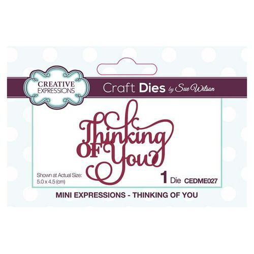 Creative Expressions Dies Mini Expressions Thinking of You