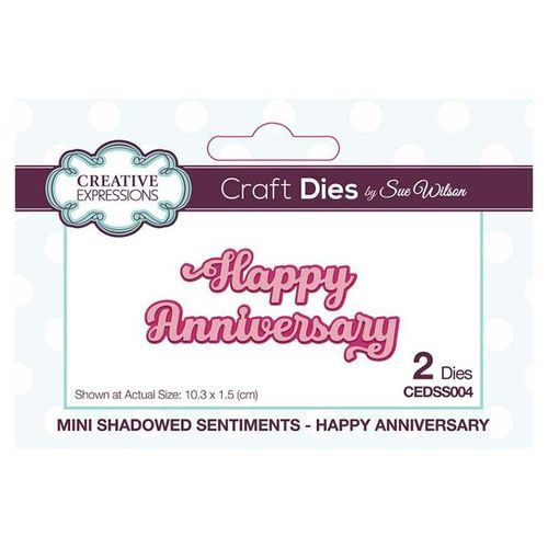 Creative Expressions Dies Mini Shadowed Sentiments Happy Anniversary