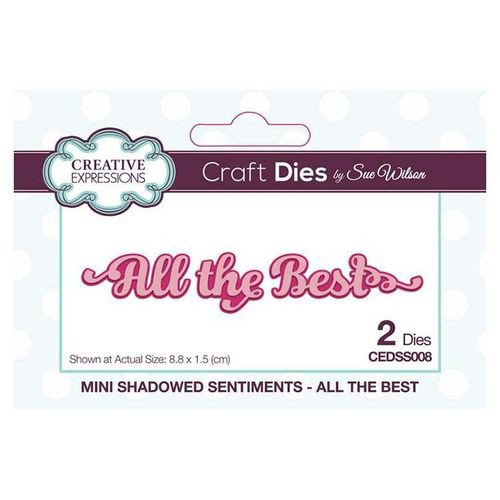 Creative Expressions Dies Mini Shadowed Sentiments All the Best