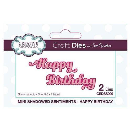Creative Expressions Dies Mini Shadowed Sentiments Happy Birthday