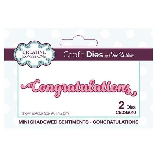 Creative Expressions Dies Mini Shadowed Sentiments Congratulations