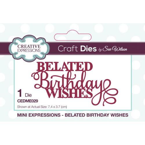 Sue Wilson Mini Expressions Belated Birthday
