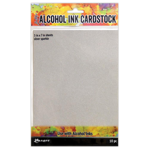 Tim Holtz Alcohol Ink Cardstock Silver Sparkle