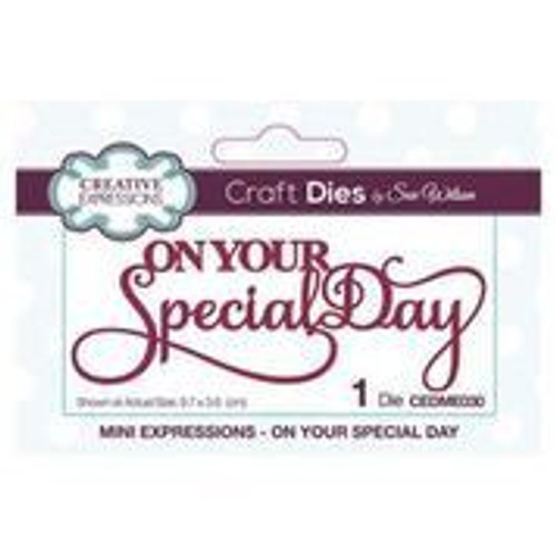 Creative Expressions Dies Mini Expressions On Your Special Day