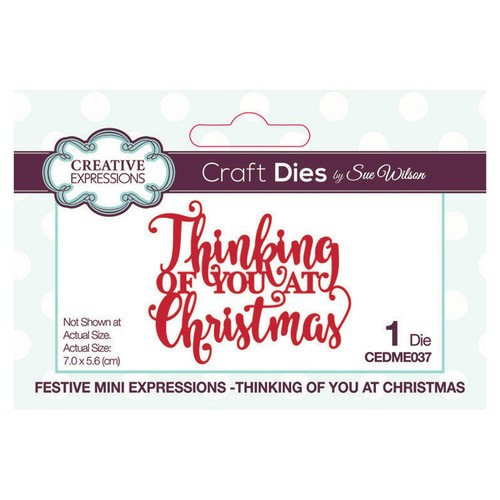 Creative Expressions Dies Mini Expressions Thinking of You at Christmas