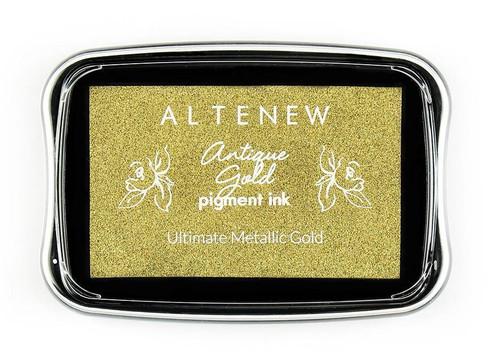 Altenew pigment ink Antique Gold