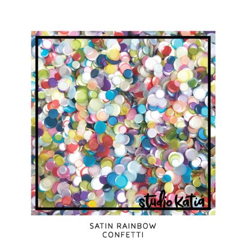 Studio Katia Confetti Satin Rainbow