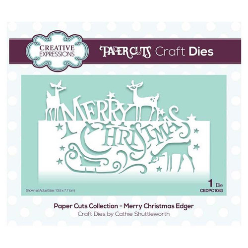 Creative Expressions Merry Christmas Edger Die