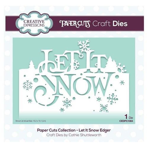 Creative Expressions Dies Paper Cuts Collection Let it Snow