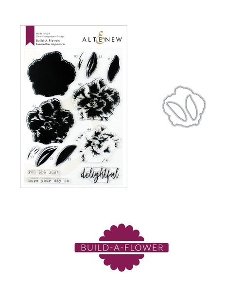 Altenew Build a Flower Camellia Japonica