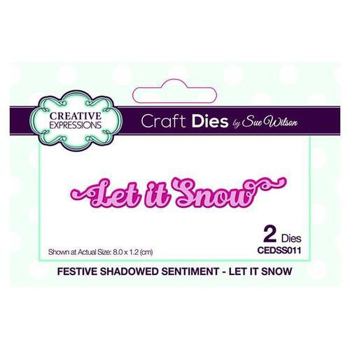Creative Expressions Dies Festive Shadowed Sentiments Let it Snow