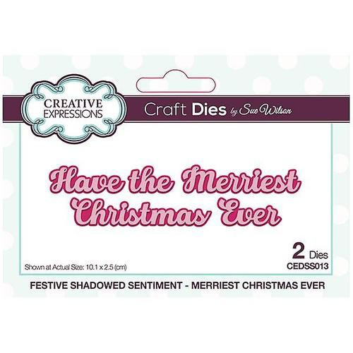 Creative Expressions Dies Mini Shadowed Sentiments Have the Merriest Christmas Ever