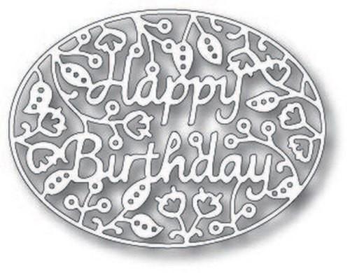 Tutti Designs die Happy Birthday Oval