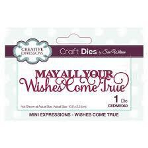 Creative Expressions Dies Mini Expressions Wishes Come True