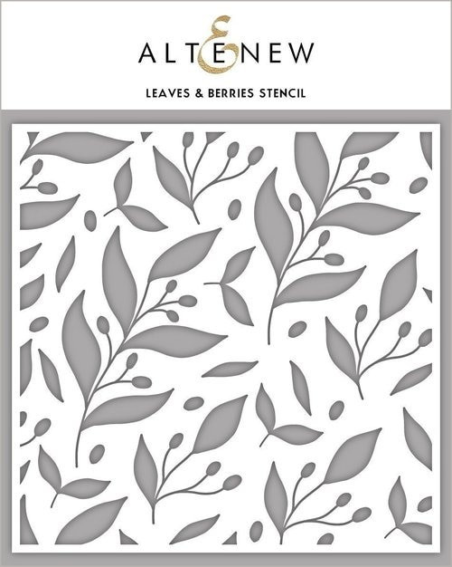 Altenew Stencil Leaves & Berries