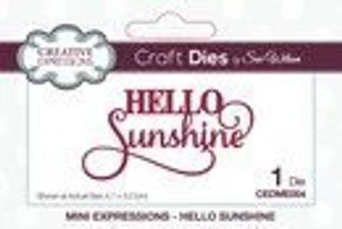Creative Expressions Dies Mini Expressions Hello Sunshine