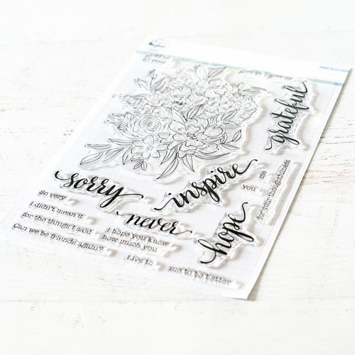 Pinkfresh Floral Cluster stamp set