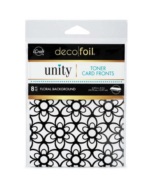 Thermoweb Unity Floral Background Toner Card Fronts