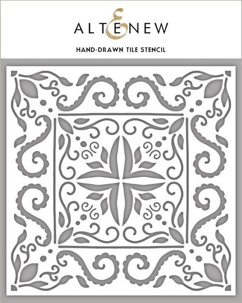 Altenew Hand Drawn Tile stencil