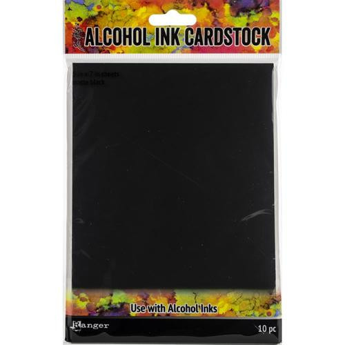 "Tim Holtz Black Matte Alcohol Ink Cardstock 5 x 7"" 10/pkg"