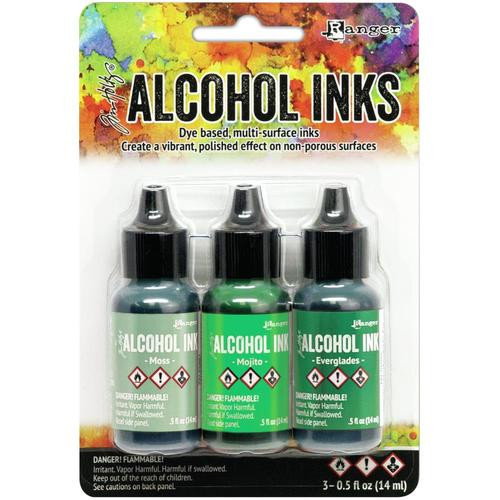 Tim Holtz Alcohol Inks Kit Mint/Green Spectrum