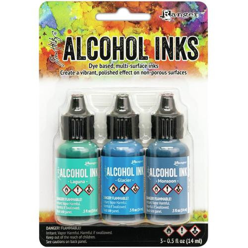 Tim Holtz Alcohol Inks Kit Teal/Blue Spectrum