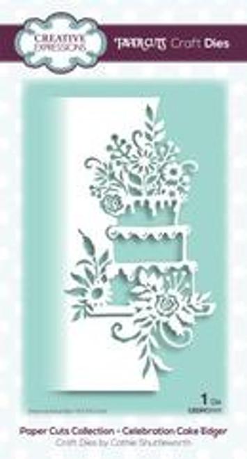 Creative Expressions Paper Cuts Celebration Cake Edger