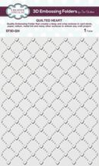 Creative Expressions 3D Embossing Folder Quilted Heart