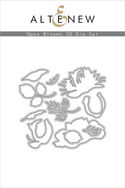 Altenew Open Blooms 3D die set